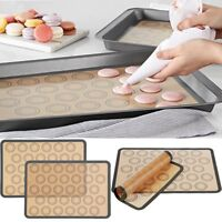 US 1PC Macaron Baking Mat Non Stick Silicone with 30 Macaroon Moulds  FE TSEO