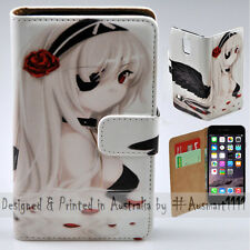 Wallet Phone Case Flip Cover ONLY for iPhone 6 Plus / 6S Plus Black Angel Anime