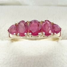 14ct Gold 2.10cts Natural Ruby Cluster Ring
