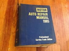 1985 Motor Repair Manual Domestic Ford GM Chrysler