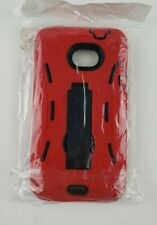 Red Grip Phone Case with Kickstand for HTC Evo 4G LTE