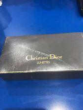RARE VINTAGE CHRISTIAN DIOR Box Eye Glasses CASE Pouch Frame Occhiali Lunette