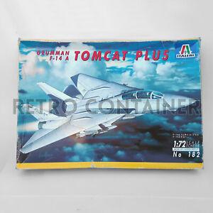 Vintage Model Kit ITALERI Grumman F-14 A Tomcat Plus - 1:72 Scale Modellismo