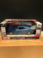 1/25 Scale 1969 Dodge Charger R/T Diecast Model Muscle Car - Maisto Blue New