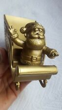 Vintage Santa Claus in gold sleigh Christmas table desk decoration • pre-owned