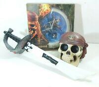 POTC PIRATE BUNDLE Sword With Sound Wall Clock Skull Treasure Box Pirates Toys