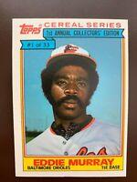 1984 Topps Cereal Series Eddie Murray, Baltimore Orioles #1 of 33 HOF