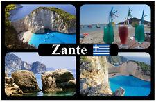 ZANTE, GREEK ISLANDS - SOUVENIR NOVELTY FRIDGE MAGNET - SIGHTS & FLAG - NEW
