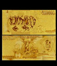 BANCONOTA  500000 LIRE RAFFAELLO REPLICA ORO 24K