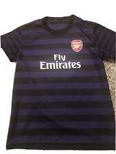 Arsenal Cazorla Football Soccer Youth Boys Jersey Size L Black/purple Used.