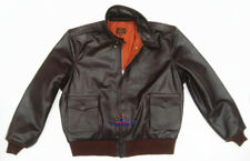 Men Type A2 Repro Military Bronco Real Horse Hide Leather Jacket WWII Air force