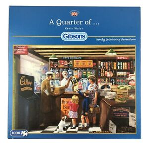 A Quarter of Jigsaw Puzzle 1000 Gibsons Sweet Shop Candy Store Vintage Frys Choc