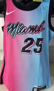 Nike Miami Heat Jersey Swingman Kendrick Nunn #25 VICE CITY Drifit Sz M Defect
