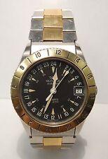 Glycine Airman Quartz 823.111 Stainless Steel & Gold Tone Men's Wrist Watch