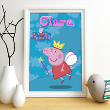 Peppa Pig Personalised Poster A4 Print Wall Art Custom Name ✔ Fast Delivery ✔