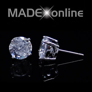 Men's Stud Earrings, Quality AAA Cubic Zirconia CZ Stones