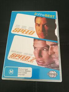 Speed + Speed 2 DVD Keanu Reeves Sandra Bullock Jason Patric Action