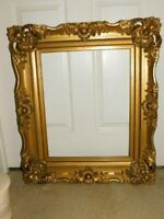 Antique Baroque Gold Gilt Wood Paintng Picture Frame Image 16x20, 18x22