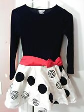 Girls Dress - Size 10-12, Rare Edition, Black & white, red bow