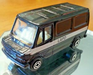 Maisto Mercedes Van 307D LAPD Black Loose Used