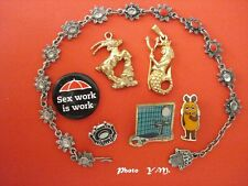 Lot fond de Tiroir- Bracelet Main de Fatma/Pins Epinglettes...etc