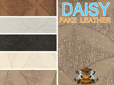 Vinyl Upholstery Embossed Texture Fabric DAISY FLOWER ELIPS Fake Leather 54