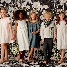 BONPOINT Filles Bleu Slate GRECE robe 6 ans