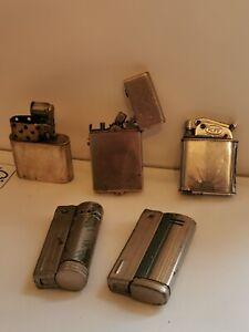 Vintage Joblot Petrol Lighters spares or repairs