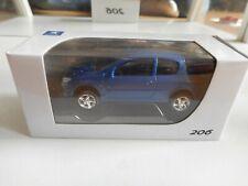 Norev Peugeot 206 in Blue on 1:64 in Box