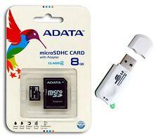 ADATA 8 GB Mobile  MicroSD Micro SDHC Class 4 New Memory Card 8G + Card Reader