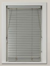Wood Venetian Blind, Croft Collection - 35mm, Blue Grey