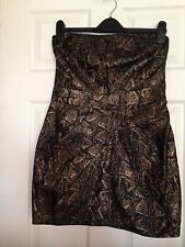 Karen Millen Bronze Strapless Dress Size12