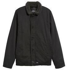 O'NEILL Men's BURNSIDE SHERPA DECK Jacket - BLK - XL - NWT