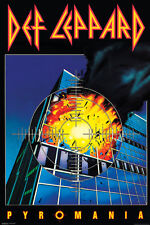 DEF LEPPARD PYROMANIA 24x36 poster BRINGIN ON THE HEARTBREAK HIGH DRY BRAND NEW!