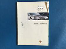 Rover 600 Owners Handbook