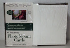 Strathmore 105-682 Photo Mount Cards, White Classic Embossed Border, 100 Count
