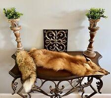 """Tanned Red Fox Fur, Winter """"Heavy Fur,""""  large, Pelt, Hide, Grades 1 & 2"""