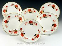 """Royal Crown Derby England A.1100 BALI 6-1/4"""" BREAD AND BUTTER PLATES Set of 6"""