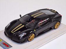 1/18 Looksmart MR Ferrari F430 Scuderia Nero DS Gold Stripe Gold Wheels Alcant