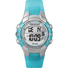 Ladies Timex Marathon Indiglo Digital Alarm Blue Rubber Sports Watch T5K817