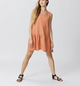Free People Womens Mini Dress Easy Street Coral Small Sleeveless Textured NWT