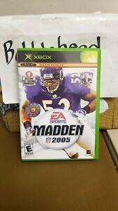 CIB FOOTBALL MADDEN 2005 NFL MICROSOFT XBOX VIDEO GAME