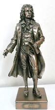 friedrich schiller,dichter,bronziert,28x10cm,figur,skulptur,statue,polyresin,