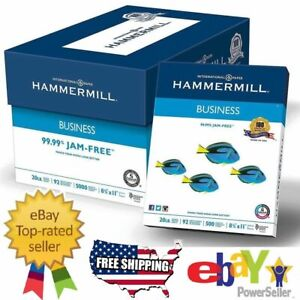 "Business Printer Paper Copy Paper White 8 1/2"" x 11"" 5000 Sheets CaseHammermill"