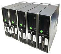 Lot of 5 HP Compaq Elite 6300 SFF Intel Core i5-3570 3.40GHz 4GB RAM 500GB HDD