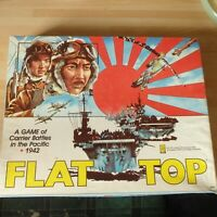 Flat Top Board Game 1981 WWII Carrier Battles Pacific Rare Vintage Avalon Hills