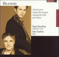 Brahms: Sonatas for Cello and Piano by Johannes Brahms, Jean Saulnier, Yegor Dy