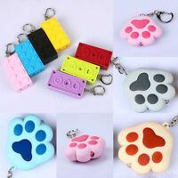 1Pc Creative Keychain Key Ring Holder Light LED luminous Phone Bag Pendant Gift