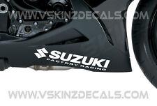 2x Suzuki Factory Racing Pegatinas De Calcomanías Para Motos GSXR 1000 600 750