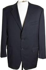 Canali Italy Mens 44L Navy Blue Blazer Jacket Sports Suit Coat 100% Wool 3 Btn